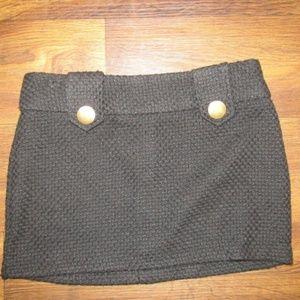 Charlotte Russe Black Gold Skirt Size 0